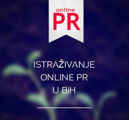 rezultati istraživanja o online pr-u u BiH